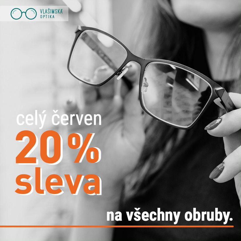 Sleva 20% na brýlové obruby